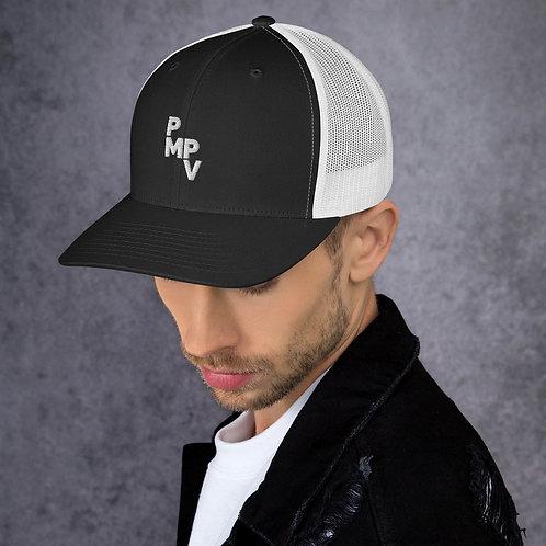 PMPV White Logo Trucker Cap