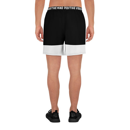 Black Men's Athletic Long Shorts