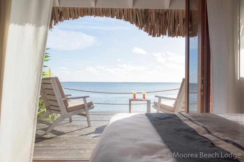 Moorea Beach Lodge view from overwater bungalow