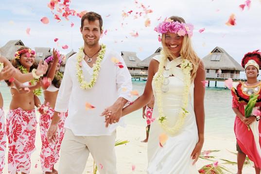 BOB Hilton Bora Nui Wedding ceremony on