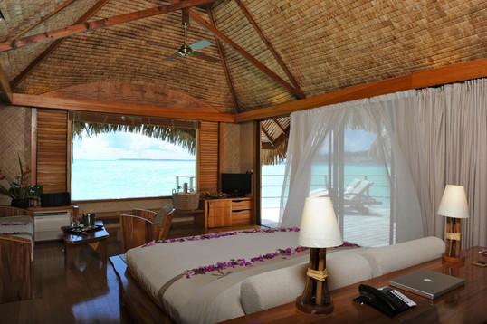 TAHAA Island Resort End of Pontoon Overw