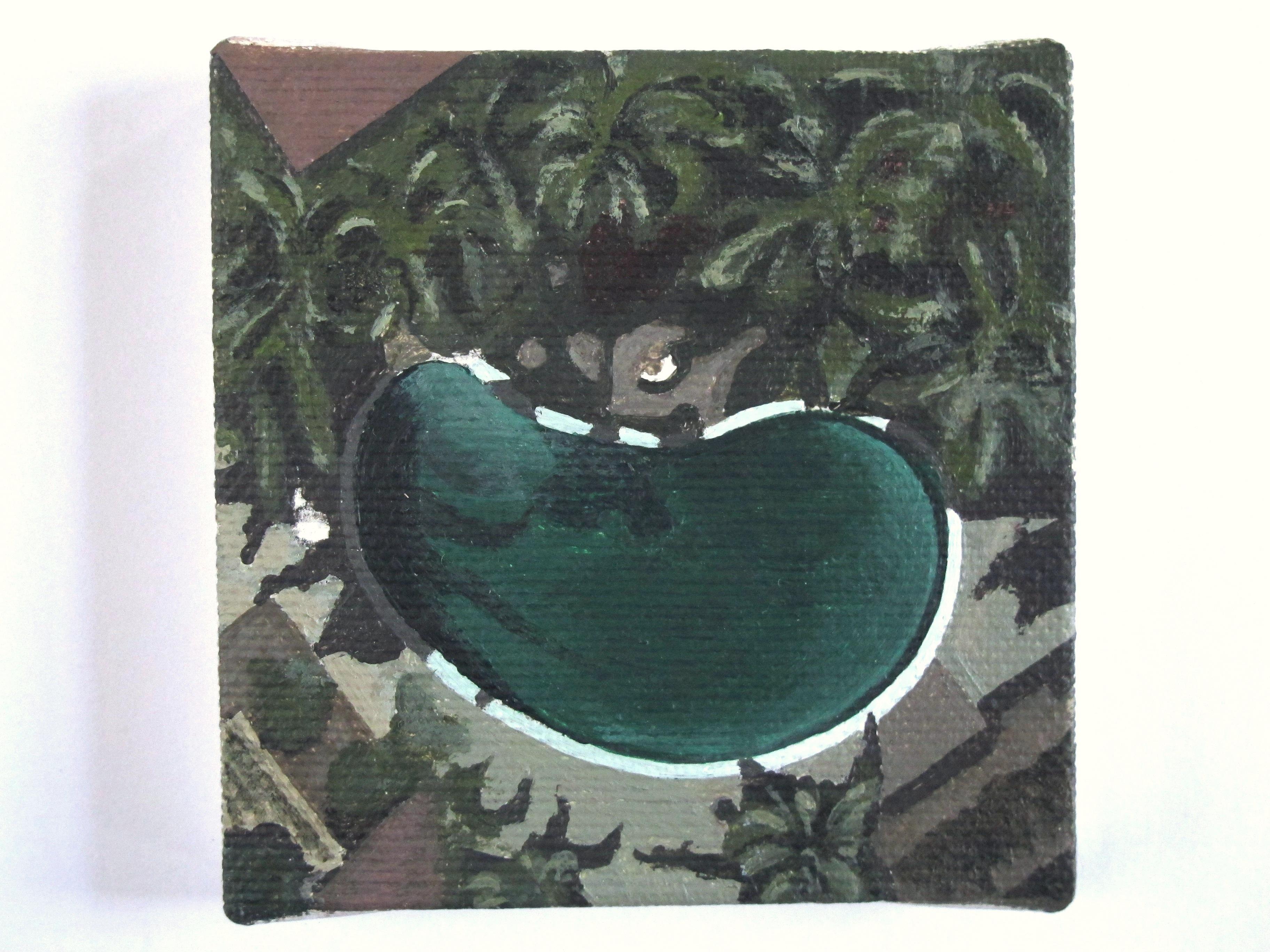 """Piscine VI - Palm Spring""/ Acryliq"