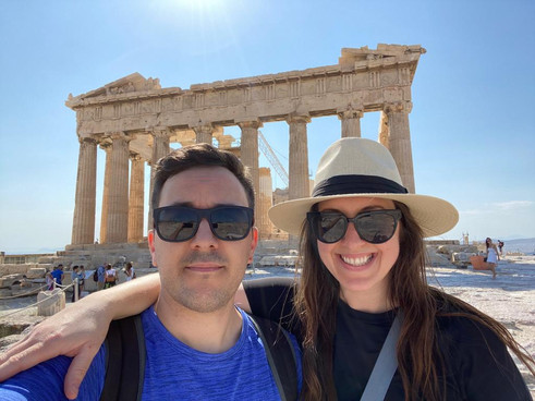Visit to the Acropolis in Greece