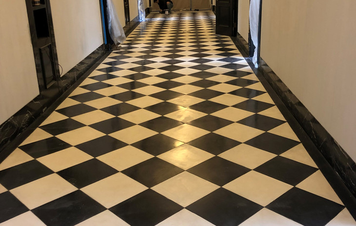 Rockett's Glass Overlay Flooring