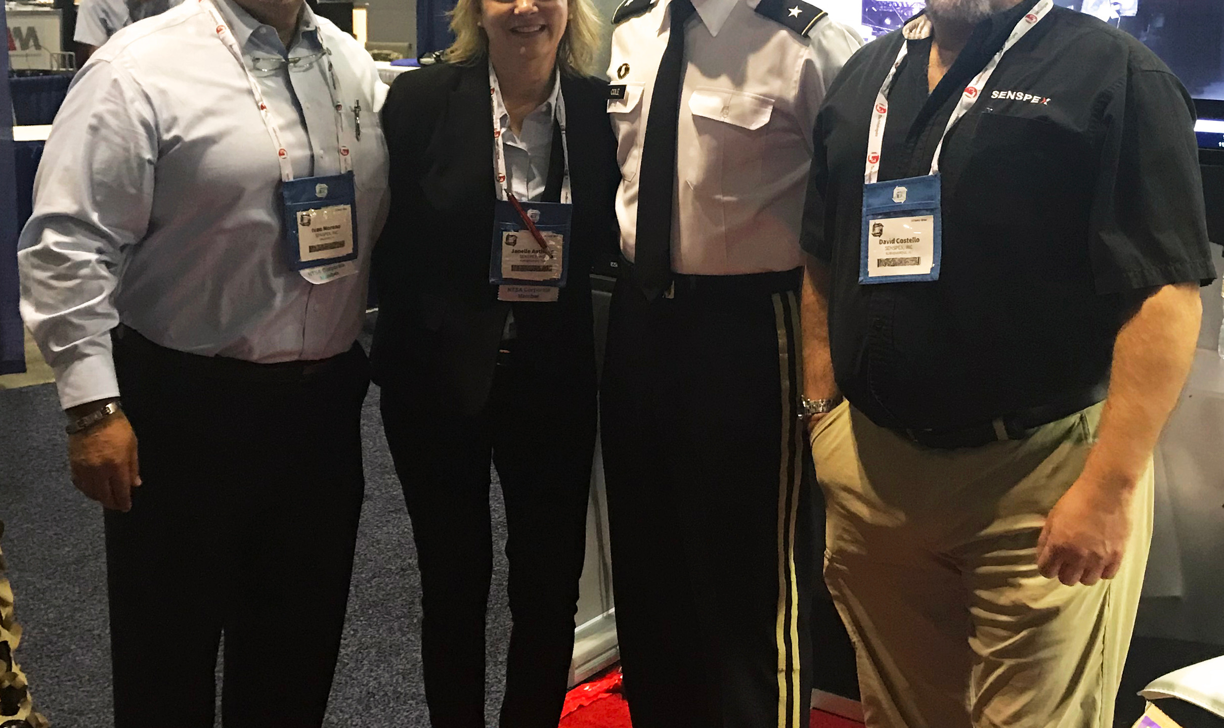 Senspex Officers with BG Cole