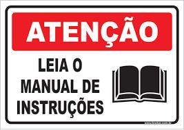 MANUAIS DE INSTRUÇÕES