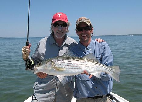 Roger & Andrew Striper Fishing May 2010.