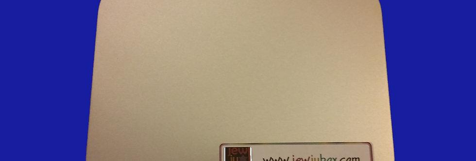 Lid of small tin box, with JewJu Box label