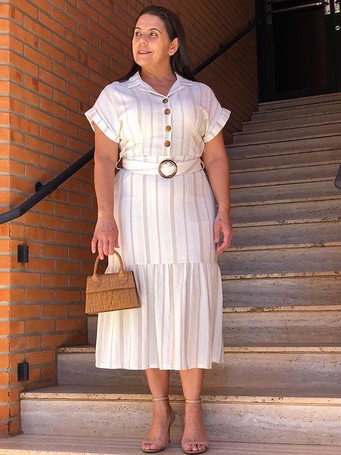 Vestido Midi Listrado
