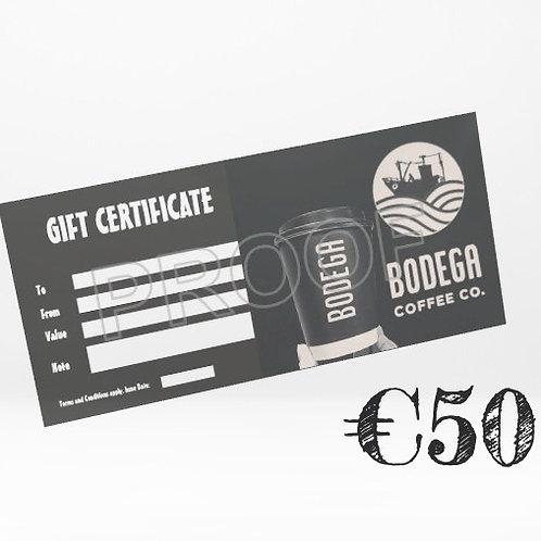 €50 Bodega Gift Card