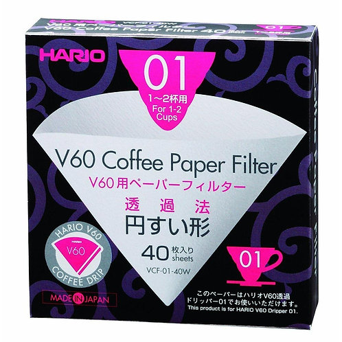 Hario V60 01 Filter Papers (40)