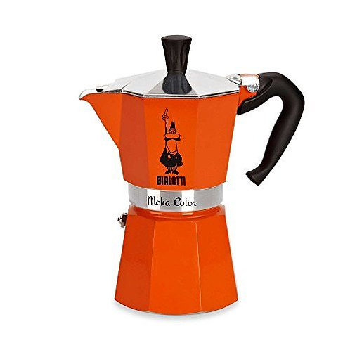 Bialetti Rainbow 3 Cup Moka Pot (Red)