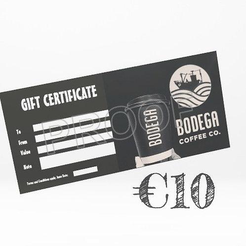 €10 Bodega Gift Card