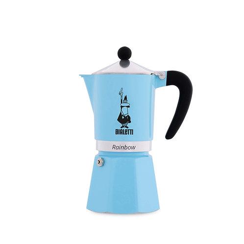Bialetti Rainbow 3 Cup Moka Pot (Blue)