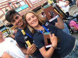 Trophies at Junior Euros