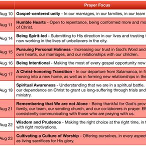 10 Days of Dedicated Prayer