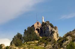 Chapel built on a steep mountain