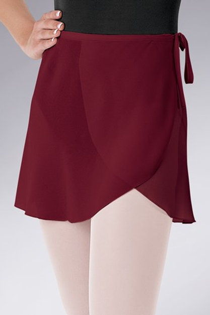 Tie-waist Georgette Wrap Skirt