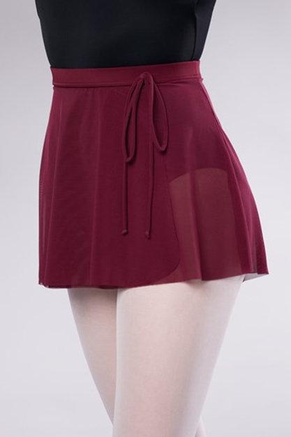 Power Mesh Faux Wrap Skirt