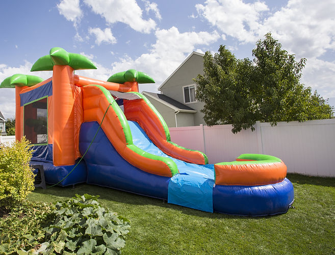 Combos Inflatable bounce house with slid