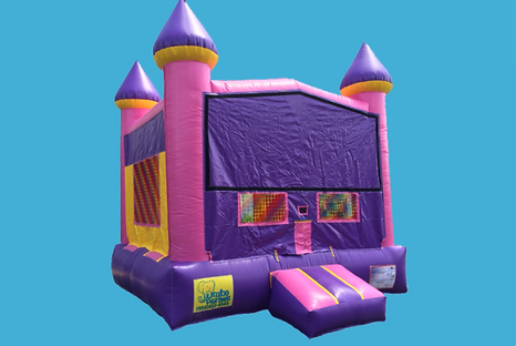Dream Castle pink and purple bounce hous