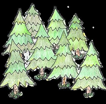 「林業」森イラスト