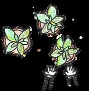 「林業」苗を育てるイラスト