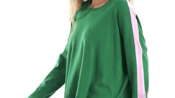 Betty Basics Amelia Knit Jumper Lime/Floss