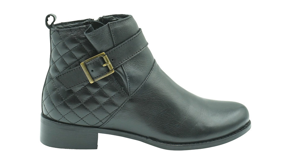 Kaysi (Planet Shoes) Celeste 21 Black Leather Ankle Boots