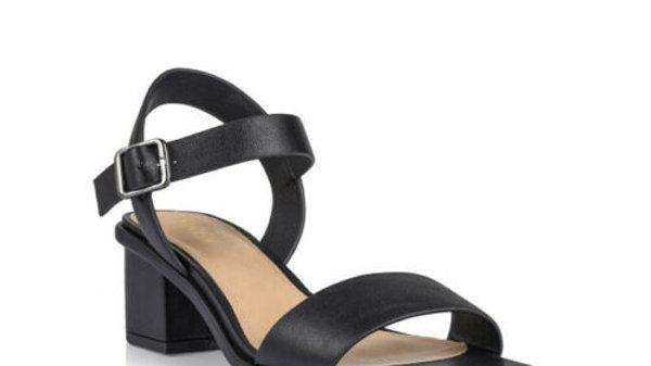 Siren Shoes Nedah Leather Block Heel