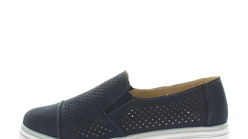Just Bee Crista Leather Slip On Casual