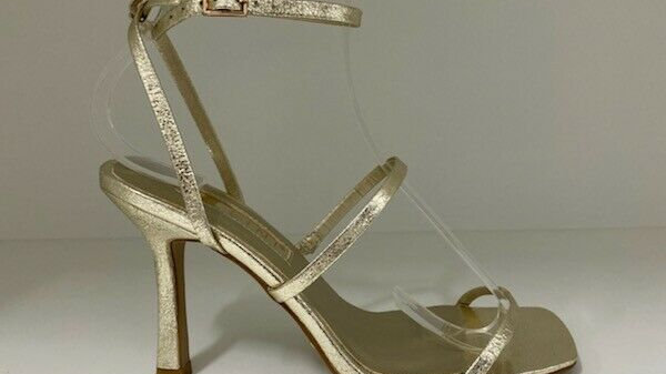 Billini Sawyer Gold Metallic Strappy Heel