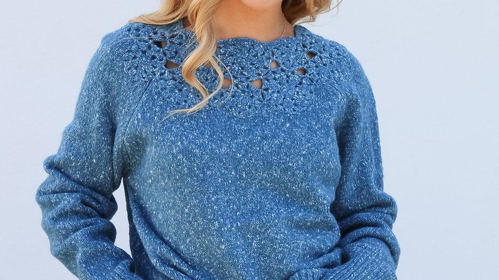 Dreamers & Drifters Flora Crochet Knit Jumper
