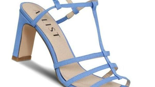 A:List Jordan Blue Strappy Block Heels