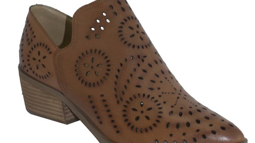Human Shoes Thorn Tan Leather Burnished Ankle Boots