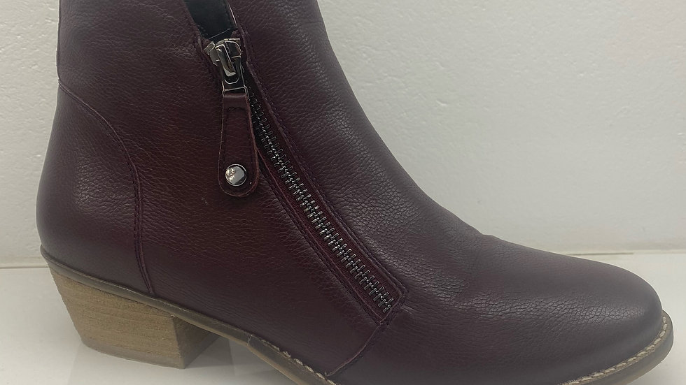 Martini Marco Tasp Leather Dark Red Ankle boot