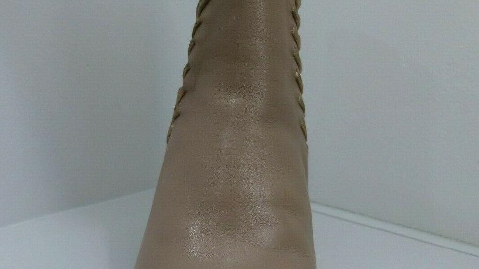 Martini Marco Noma Blush Leather Metallic Contrast Boots