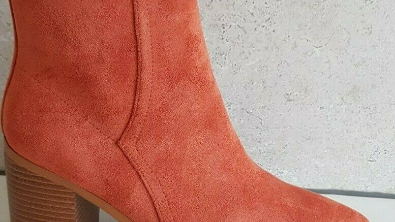 A:List Thurman Terracotta Suede Ankle Boots