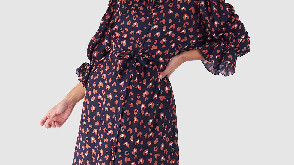 Sass Vida Animal Print Dress