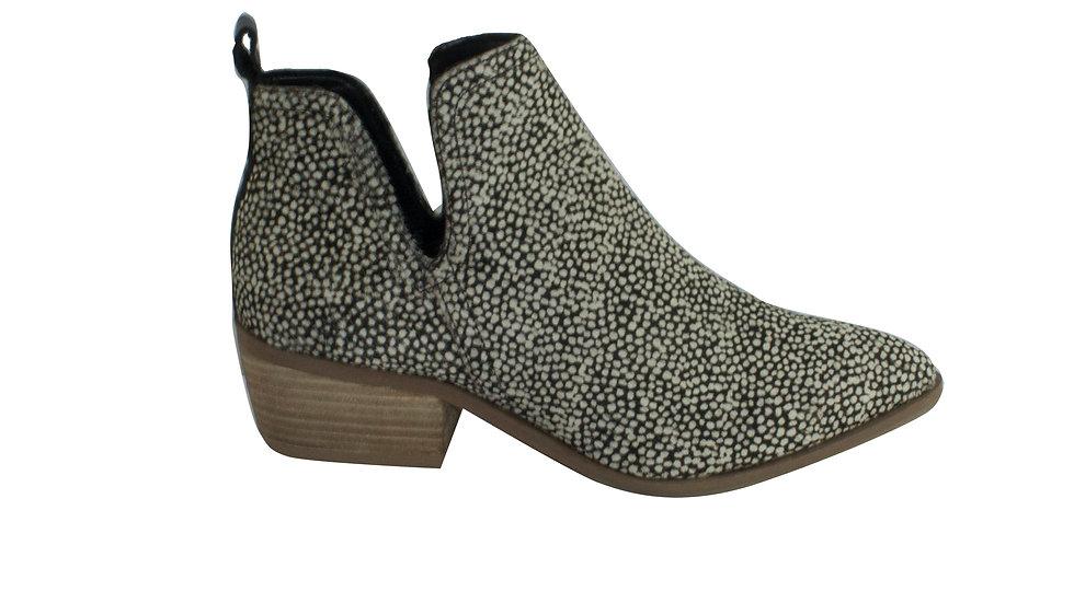 Human Premium Jungle Black/White Leopard Leather Ankle Boots