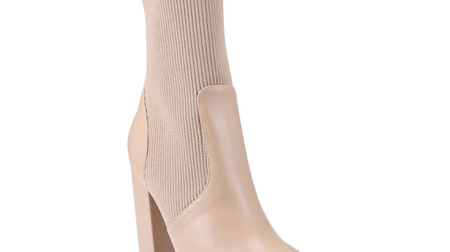 Verali Dixie Smooth/Knit  High Ankle Boot