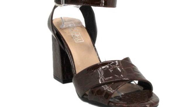 Therapy Shoes Foxy Choc Croc Black Heel