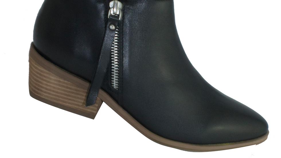 Human Premium Shoes Mae Ankle Wood Block Heel