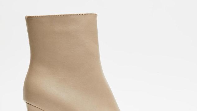 Billini Shoes Malia Grey Shaved Black Heel Boots