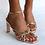 Thumbnail: Billini Shoes Posse Watermelon Pink Mule Shave Block Heel