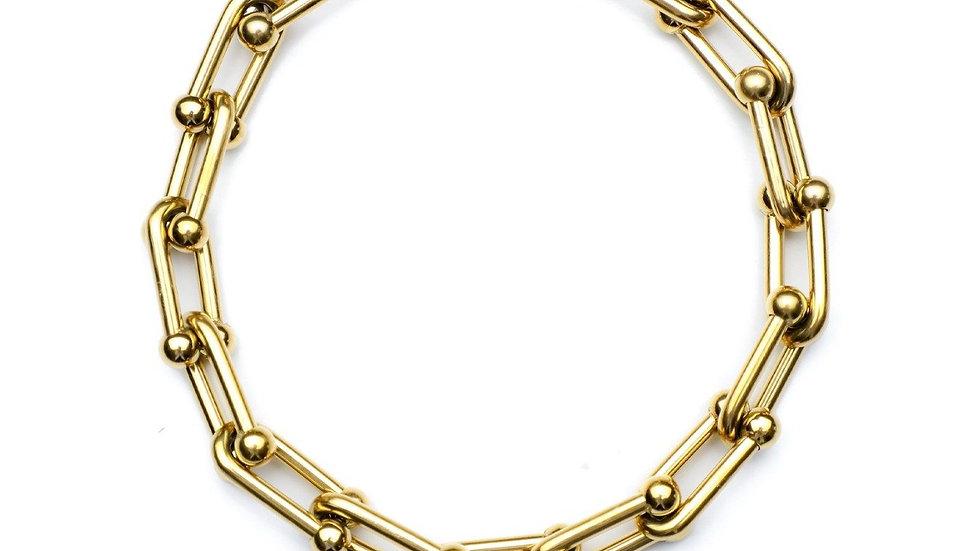 Queen + Co Vertigo Gold Plated Bracelet