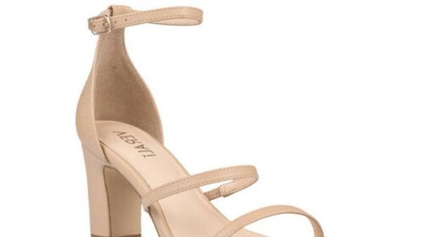 Verali Shoes Isabelle Nude Strappy Block heel