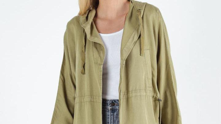 Sass Frankie Khaki Hooded Jacket