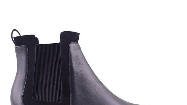Sol Sana Waverly Black Leather Ankle Boots