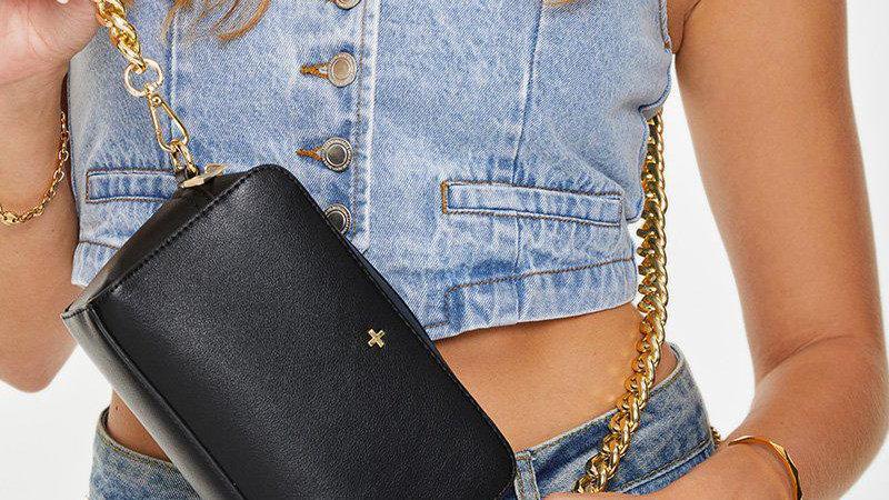 Peta & Jain Bond Crossbody Bag with Chunky Chain Strap